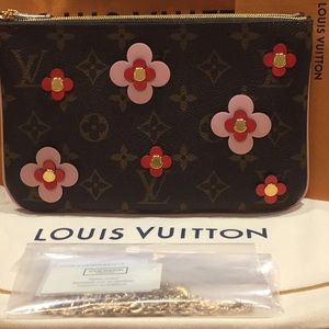 LOUIS VUITTON POUCHETTE REMOVABLE CHAIN DOUBLE ZIP